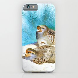 Archibald Thorburn - English partridge with gorse and thistles - Digital Remastered Edition iPhone Case
