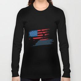 Hunt American Flag USA Hunter Gifts Long Sleeve T-shirt