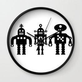 Three Robots by Bruce Gray Wall Clock