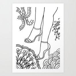 foot fetish Art Print