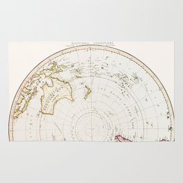 Southern Hemisphere - reproduction of William Faden's 1790 engraving Rug