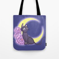 enerjax Tote Bags featuring Luna by enerjax