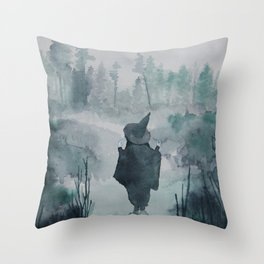 The Forest Witch Throw Pillow