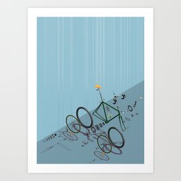 Hanging Bike Art Print