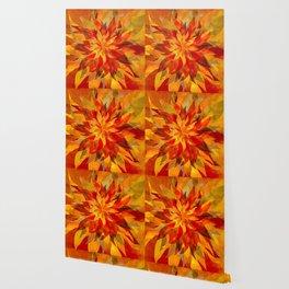 Blazing Infused Nightfall Flower Wallpaper