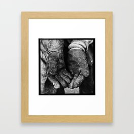 Street Worker Framed Art Print