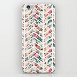 Floral Chevron iPhone Skin