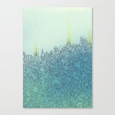 A Quiet Raft Canvas Print
