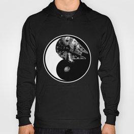Millennium Falcon / Death Star Yin Yang Symbol Hoody