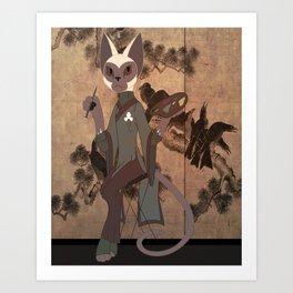 Siamese Art Print