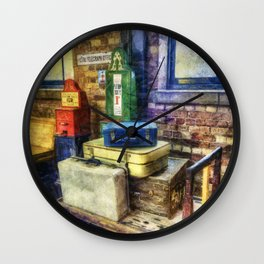 Luggage at the Station Wall Clock