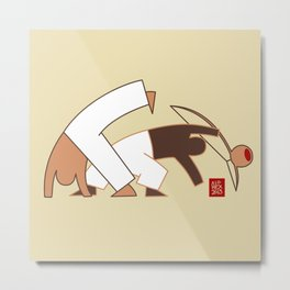 Capoeira 264 vecto Metal Print
