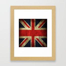 GRUNGY BRITISH UNION JACK  DESIGN ART Framed Art Print