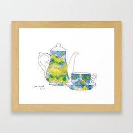 swirls - teapot  Framed Art Print
