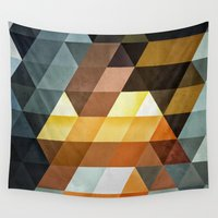 spires Wall Tapestries featuring gyld^pyrymyd by Spires