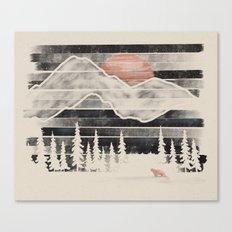 Mountain Lion at Midnight... Canvas Print