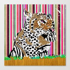 Tiger & His Technicolour Coat Canvas Print
