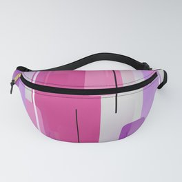 Shapes and Lines Abstract - Purple, Pink, Gray Fanny Pack