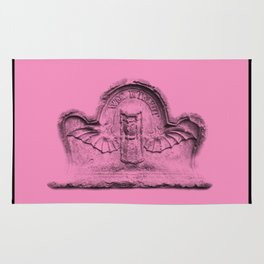 Pink goth tombstone detail Rug