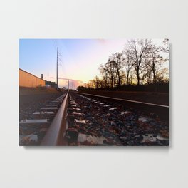 Evening railway Metal Print