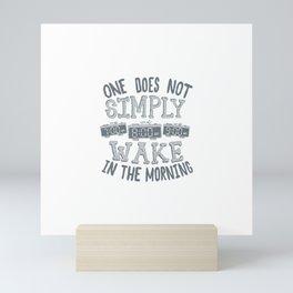 Lord of the Snooze Mini Art Print