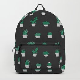 Cacti and Succulents Pattern on dark background Backpack