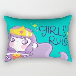 Girls Rule Rectangular Pillow