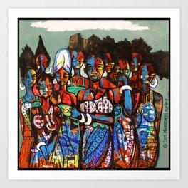 2014 SHE CRIED IN NIGERIA Art Print