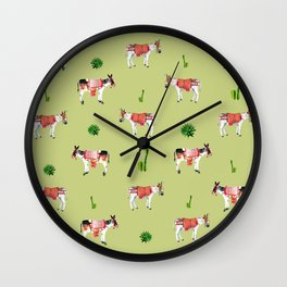 donkeys and cactuses Wall Clock
