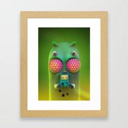 bug eys Framed Art Print