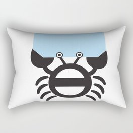 Black Crab Rectangular Pillow