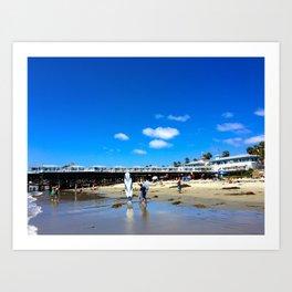 San Diego Beach Boardwalk/Crystal Pier Art Print