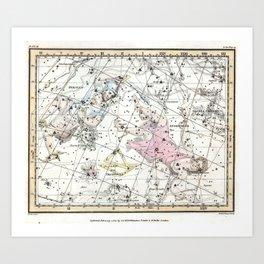 Celestial Atlas Plate 3 Alexander Jamieson, Perseus and Andromeda Art Print