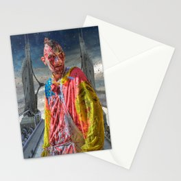 Zombie In The Mist By Liane Wright Stationery Cards