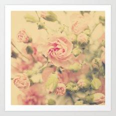 carnation pink Art Print