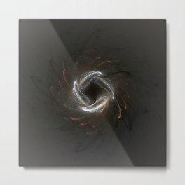 Metallic Swirl Fractal Metal Print