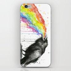 Raven Tastes the Rainbow iPhone Skin