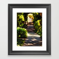 Secluded Path in Autumn Framed Art Print