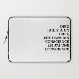 Dieu (s'il y a un Dieu) est dans ma conscience (si j'ai une conscience) Laptop Sleeve