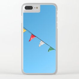 Colorful and minimal party Clear iPhone Case