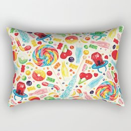 Candy Pattern - White Rectangular Pillow