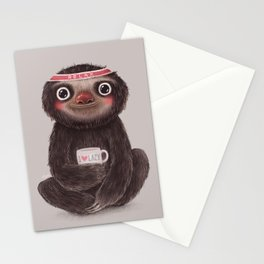 Sloth I♥lazy Stationery Cards