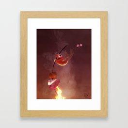 Dancing Fish Framed Art Print