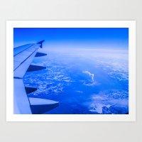 Airplane Ride Art Print