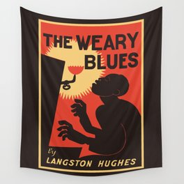 Retro The Weary Blues (music) Wall Tapestry