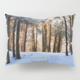 A Winter Morning in the Woods Pillow Sham