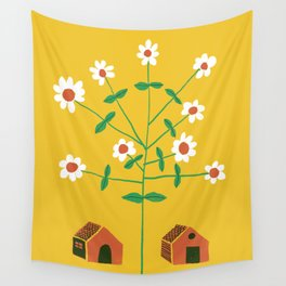 No Fences. No Borders. Free Movement For All. Wall Tapestry