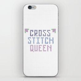 Cross Stitch Queen iPhone Skin