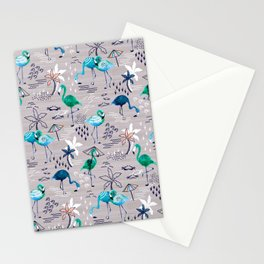 Frolicking Flamingos Stationery Cards
