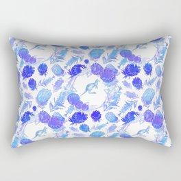 Beautiful Australian Native Floral Print with Kangaroos Rectangular Pillow